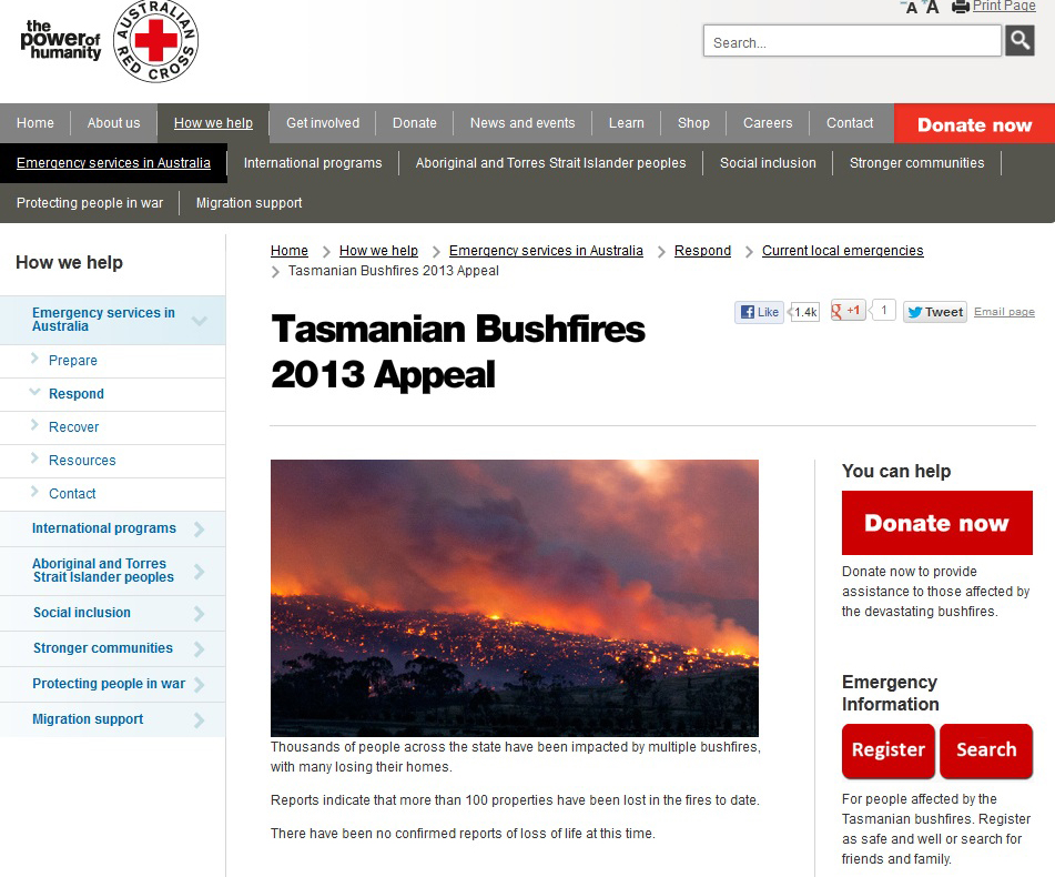 Red Cross Appeal