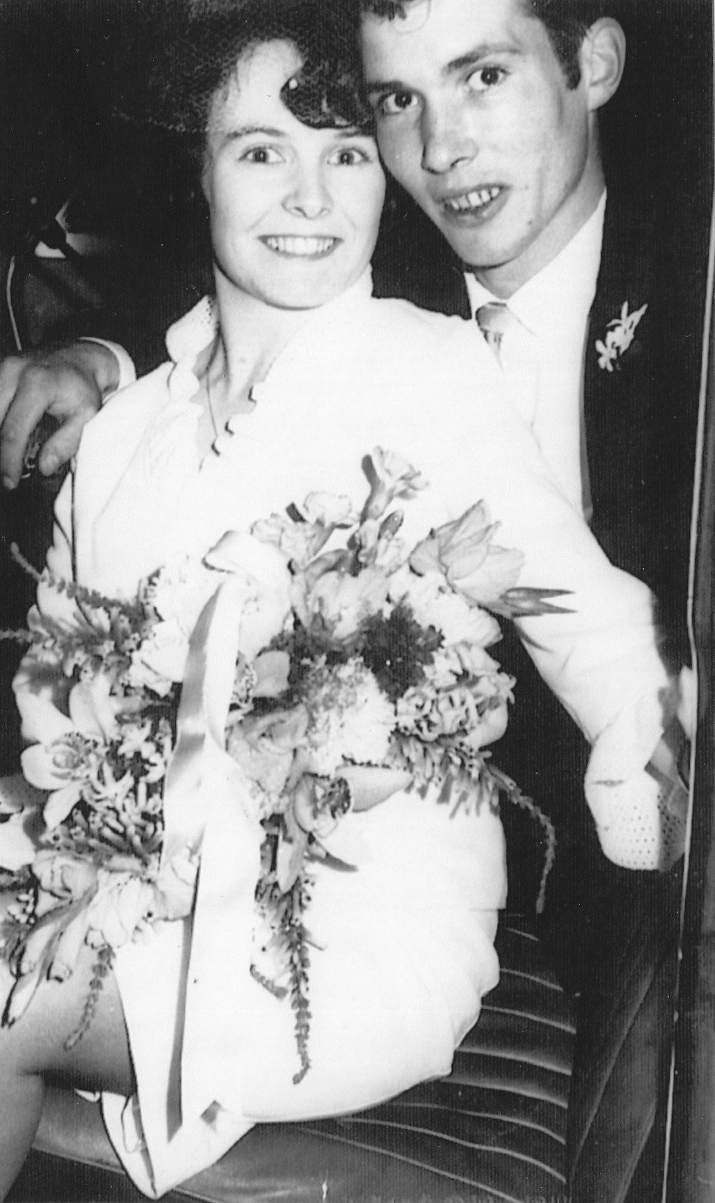Mum and dad on their wedding day 1965