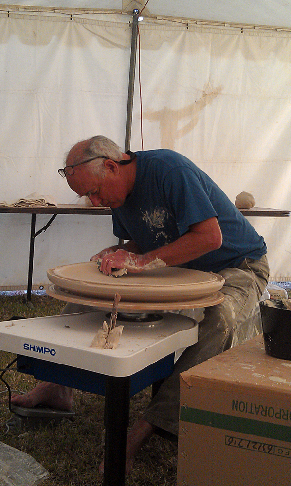 Frank Boyden Throwing a large plate