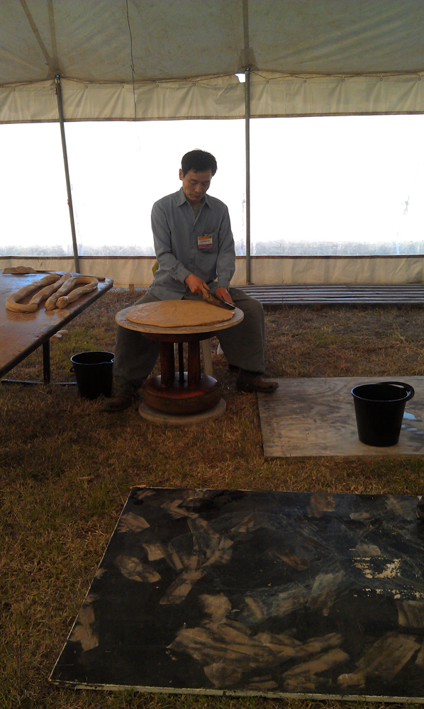 Lee Kang Hyo making a giant pot