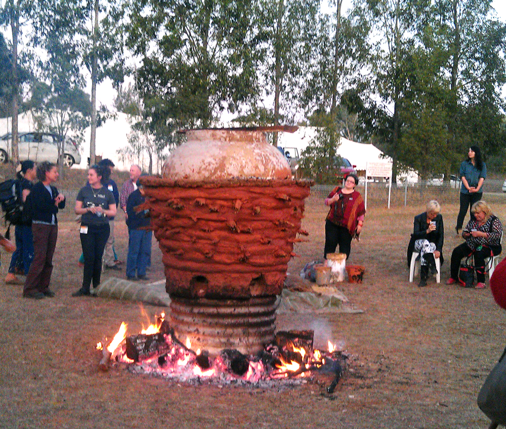 performance firing of the giant pot