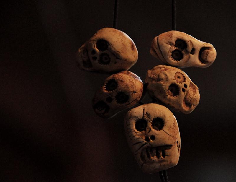 skull beads by Kim Foale