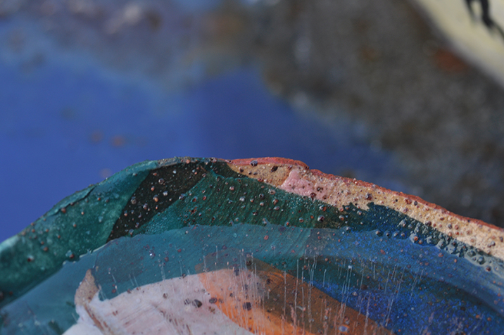 detail of BRT bowl with colour.