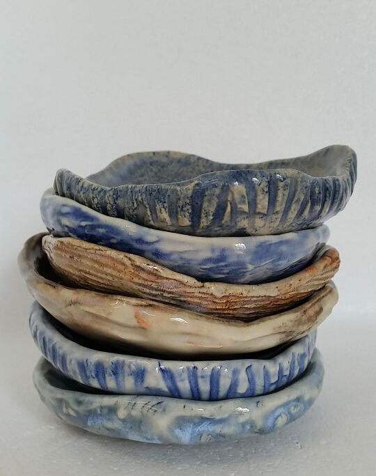 stack of soap dishes